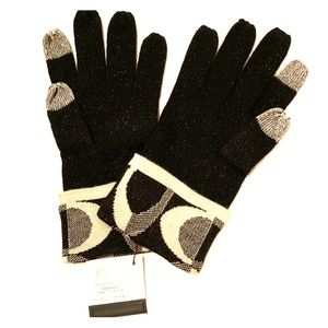 New (with tags) Black Coach knit gloves